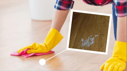 Q:如果木地板染上污漬點算好?